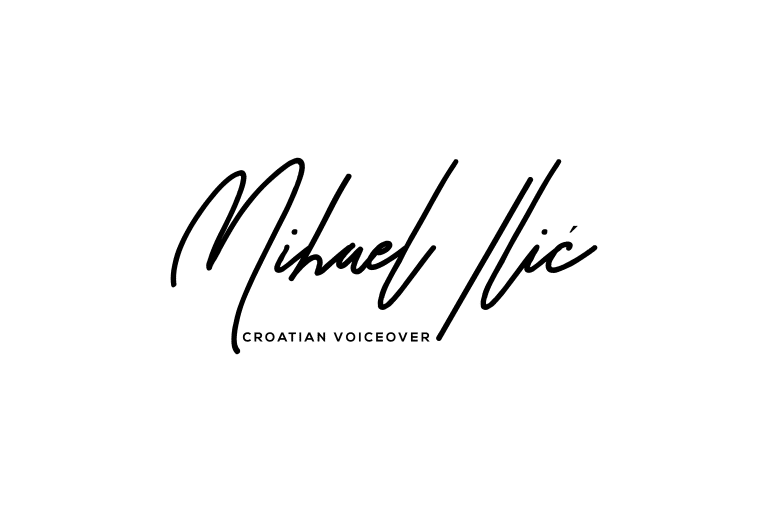 Mihael Ilic Croatian voiceover signature logo black